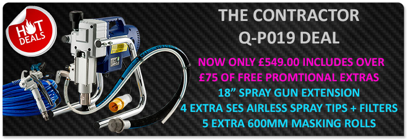 Q-tech QP019 airless sprayer 589 plus extras
