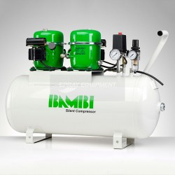 Bambi BB50D Silent Air Compressor With Drier 230v