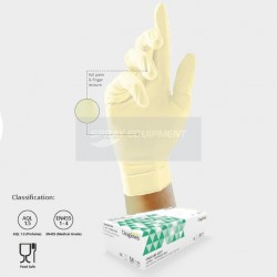 UniGloves GS0014 Latex Gloves Powder Free Large - Box 100