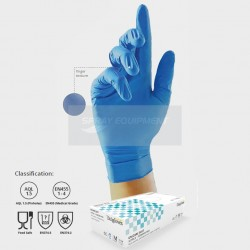 UniGloves GS0034 Nitrile Gloves Powder Free Large - Box 100
