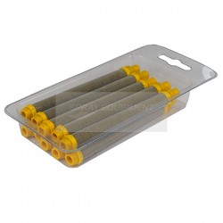 Q-Tech Airless Pencil Filter - Push In - Yellow - 10 Pack