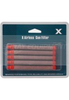 X Type Airless Pencil Filter - Push In - Red -  5 Pack