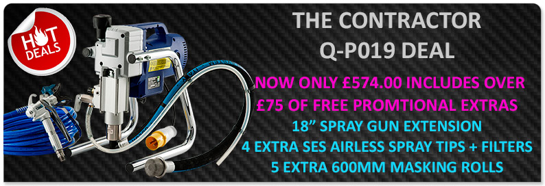 Q-tech QP019 airless sprayer 589 plus extras